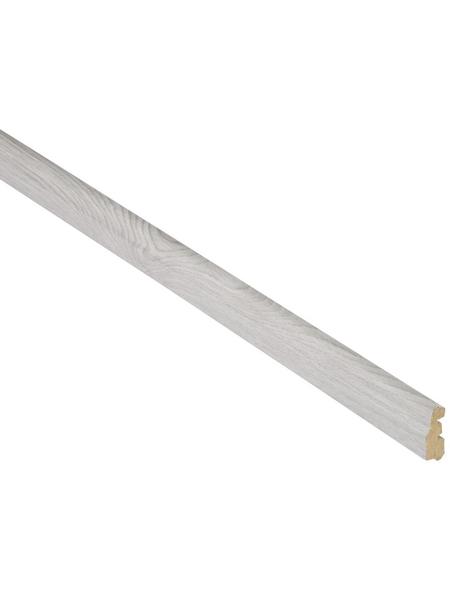 FN NEUHOFER HOLZ Abschlussleiste, Esche grau, MDF, LxHxT: 240 x 3,6 x 1,4 cm