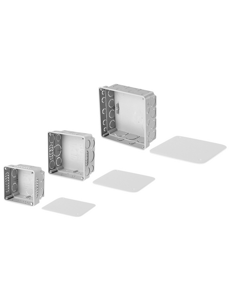 Abzweigkasten, 150x150x45 mm, Schwarz