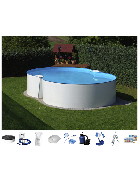 SUMMER FUN Achtformbecken-Set,  achtform, B x L x H: 420 x 650 x 120 cm