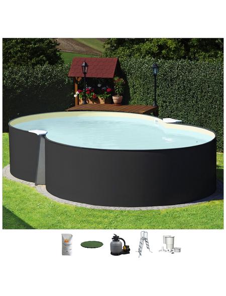 SUMMER FUN Achtformbecken-Set,  achtform, BxLxH: 420 x 650 x 120 cm
