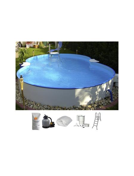 SUMMER FUN Achtformbecken-Set Achtformbeckenset , achtform, BxLxH: 420 x 650 x 120 cm