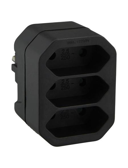 KOPP Adapter, schwarz, Kunststoff