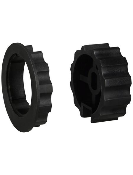 SCHELLENBERG Adapterset, für 65-mm-Markisenwellen, mit Nut, Kunststoff, schwarz, 2-tlg.
