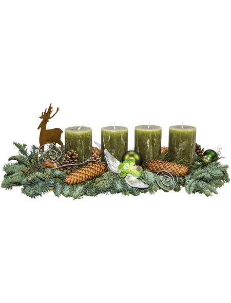 Adventsgesteck, olive dekoriert