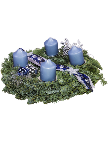 GARTENKRONE Adventskranz, Edeltanne, Ø: 25 cm, dekoriert