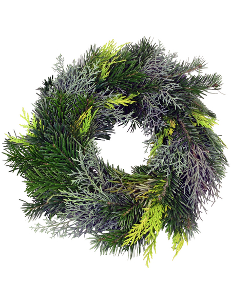 GARTENKRONE Adventskranz, Mischgrün, Ø: 25 cm, undekoriert