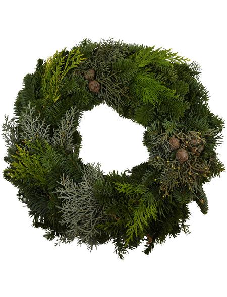 GARTENKRONE Adventskranz, Mischgrün, Ø: 30 cm, undekoriert