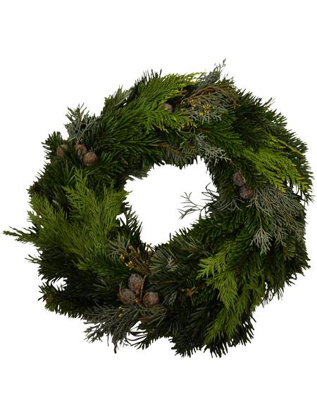 GARTENKRONE Adventskranz, Mischgrün, Ø: 35 cm, undekoriert