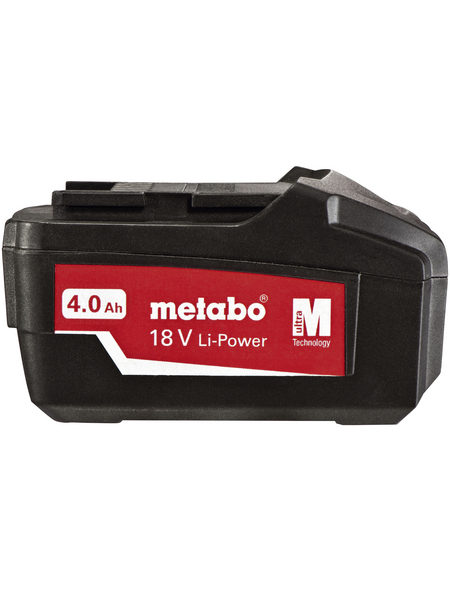 METABO Akku, Li-Power Pick + Mix, 4 Ah, 18 V, Lithium-Ionen, Schwarz