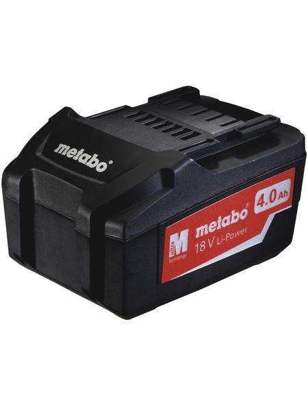 METABO Akku, Li-Power Pick + Mix, 4 Ah, 18 V, Lithium-Ionen, Schwarz