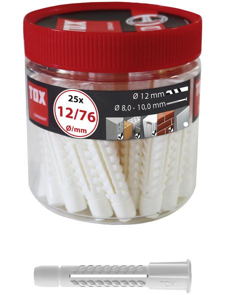 TOX Allzweckdübel, Polyethylen, 25 Stück, 12 x 76 mm
