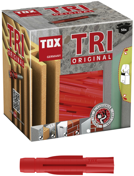 TOX Allzweckdübel, Polyethylen, 50 Stück, 10 x 61 mm