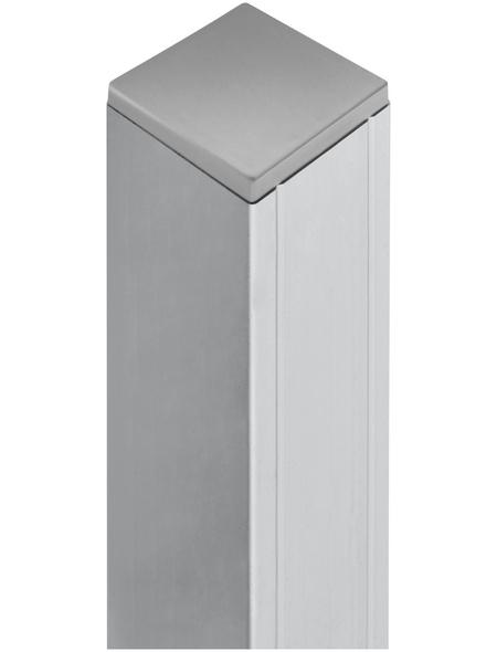MR. GARDENER Alu-Pfosten, Aluminium, BxLxT: 6,8 x 185 x 6,8 cm
