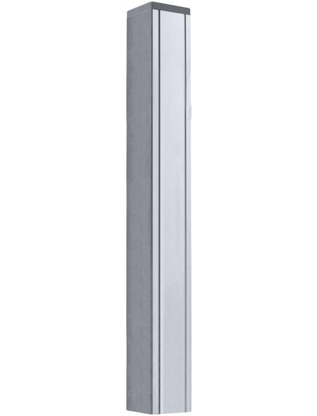 MR. GARDENER Alu-Pfosten, Aluminium, BxLxT: 6,8 x 265 x 6,8 cm