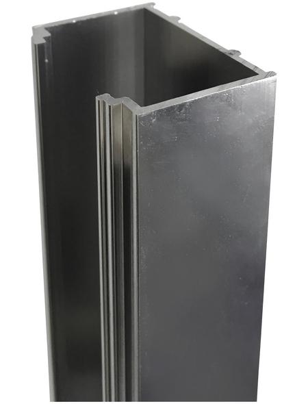 SANOTECHNIK Alu Verbreiterungsprofil für Dusche, Sanoflex, 2 cm