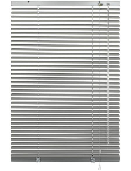 Aluminium-Jalousie, Silber, 100x175 cm