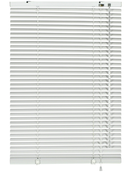 Aluminium-Jalousie, Weiß, 80x175 cm