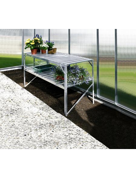VITAVIA Aluminiumtisch »Fügt sich perfekt in kleine und große Gewächshäuser ein«, BxLxH: 53,76 x 121,04 x 76,13 cm, Aluminium