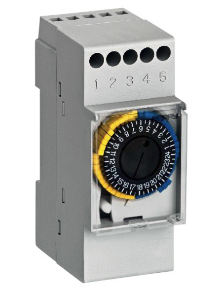 analoge Zeitschaltuhr, 230 V, 16 A, für Verteilereinbau, Schließer, Glühlampenleistung 3500 W, Weiß