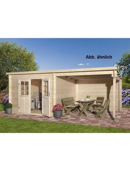 MR. GARDENER Anbau für Blockbohlenhaus »Malta«, Holz, B x T x H: 210 x 319 x 217 cm