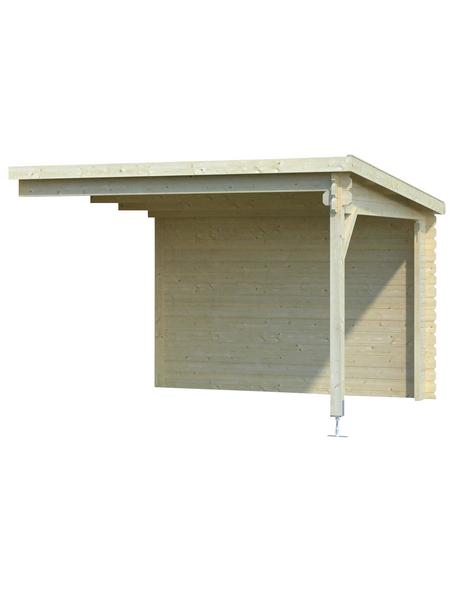 MR. GARDENER Anbau für Blockbohlenhaus »Malta«, Holz, B x T x H: 310 x 319 x 217 cm