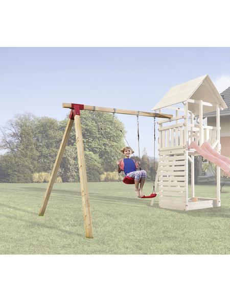 WEKA Anbauschaukel »Tabaluga«, Holz, geeignet für: Tabaluga Spieltürme mit Sattel- und Pultdach