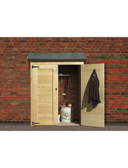 KARIBU Anbauschrank, BxT: 138 x 65 cm (Aufstellmaße)