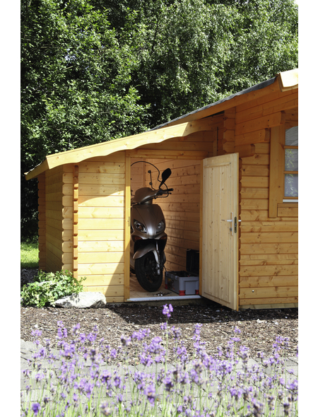 WOLFF Anbauschuppen für Gartenhäuser, Fichtenholz