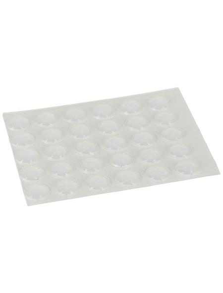 HETTICH Anschlagpuffer, selbstklebend, Kunststoff, transparent, Ø 8 x 2,5 mm, 30 St.