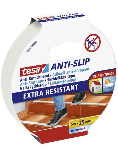 TESA Anti-Rutschband, transparent, Breite: 2,5 cm, Länge: 5 m
