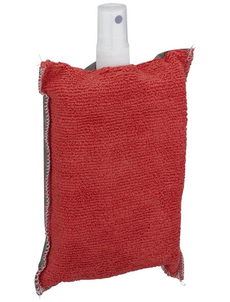 NIGRIN Antibeschlag-Schwamm, 2in1, Grau | Rot, 12 x 8 x 4