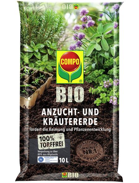 COMPO Anzucht- und Kräutererde »COMPO BIO«, für Aussaate, Kräuter, Stecklinge und Jungpflanzen, torffrei
