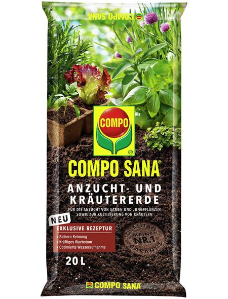 COMPO Anzucht- und Kräutererde »COMPO SANA®«, für Setzlinge, Sämereien, Kräuter