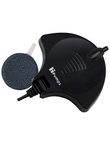 HPUMPS Aquarium Luftpumpe »Nano Piezo«, 1,5 W, schwarz