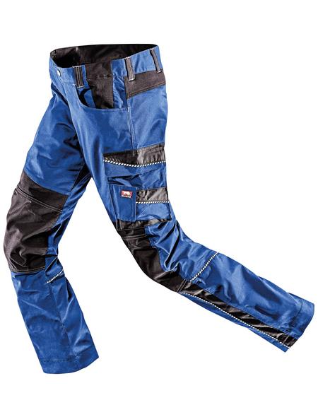 BULLSTAR Arbeitshose EVO Polyester/Baumwolle kornblumenblau/schwarz Gr. 46