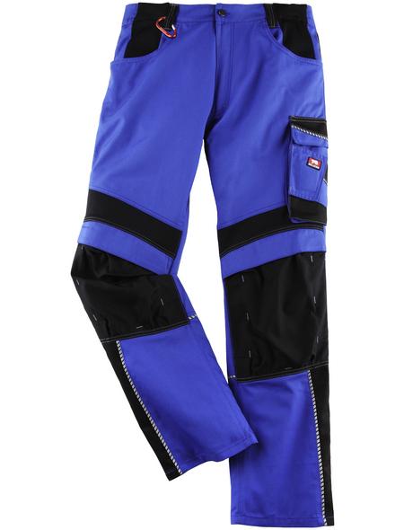 BULLSTAR Arbeitshose EVO Polyester/Baumwolle kornblumenblau/schwarz Gr. 50