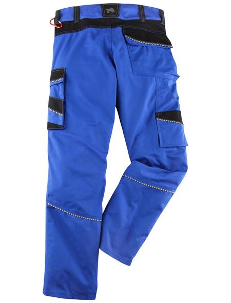 BULLSTAR Arbeitshose EVO Polyester/Baumwolle kornblumenblau/schwarz Gr. 54