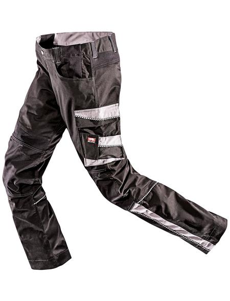 BULLSTAR Arbeitshose EVO Polyester/Baumwolle schwarz/grau Gr. 46