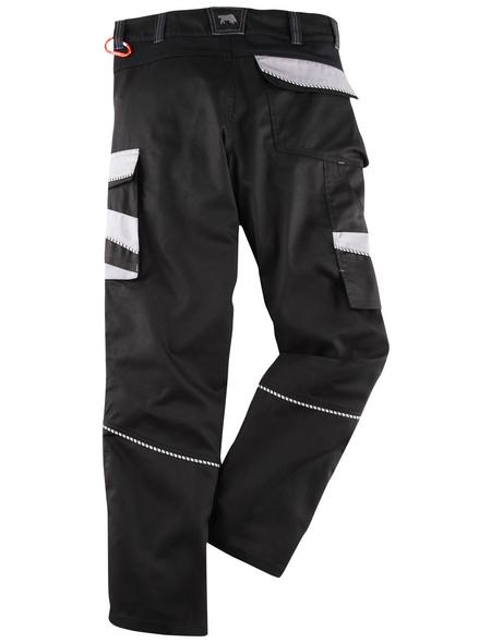 BULLSTAR Arbeitshose EVO Polyester/Baumwolle schwarz/grau Gr. 54