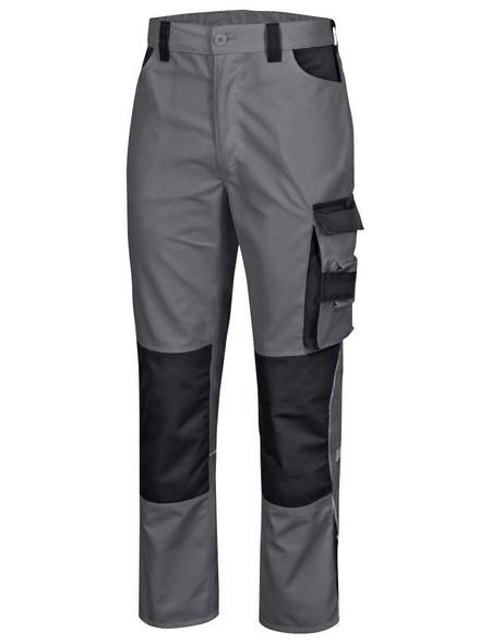 SAFETY AND MORE Arbeitshose EXTREME Polyester/Baumwolle grau/schwarz Gr. M