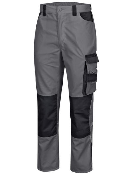 SAFETY AND MORE Arbeitshose EXTREME Polyester/Baumwolle grau/schwarz Gr. XXL