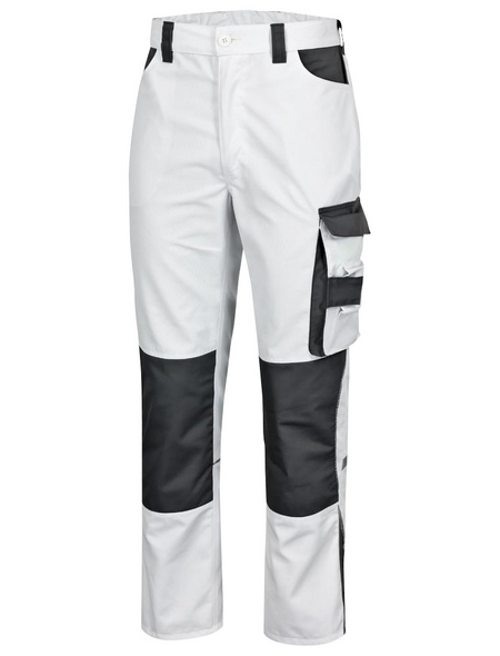 SAFETY AND MORE Arbeitshose EXTREME Polyester/Baumwolle weiß/grau Gr. M