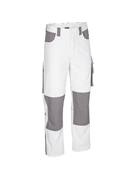 SAFETY AND MORE Arbeitshose EXTREME Polyester/Baumwolle weiß/grau Gr. XXL