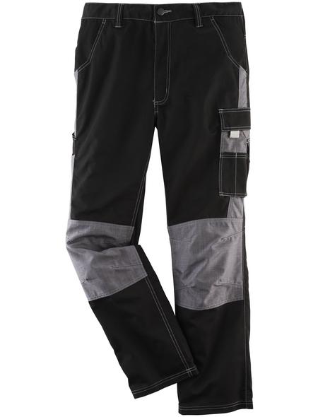 SAFETY AND MORE Arbeitshose NITRO Polyester/Baumwolle schwarz/grau Gr. S