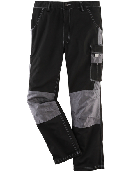 SAFETY AND MORE Arbeitshose NITRO Polyester/Baumwolle schwarz/grau Gr. XXL