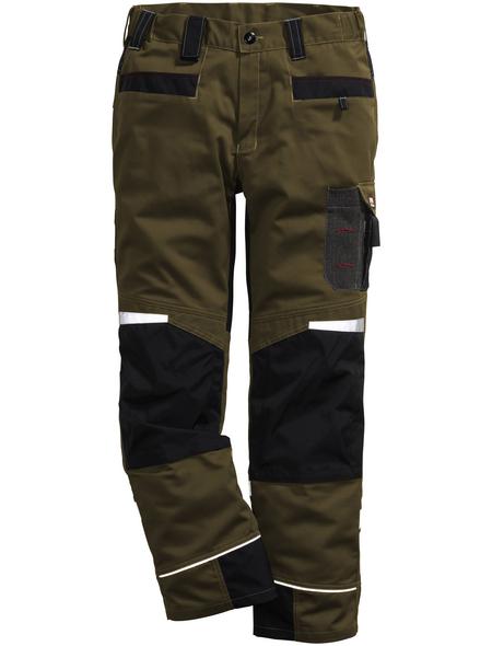 BULLSTAR Arbeitshose PERFORMANCE Polyester/Baumwolle braun/schwarz Gr. 48