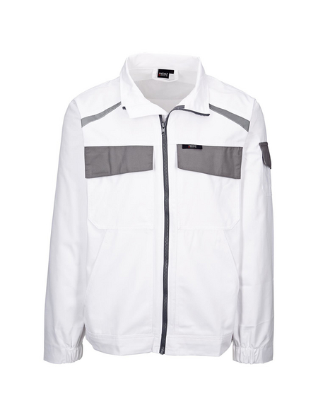 SAFETY AND MORE Arbeitsjacke »EXTREME«, grau/weiß, Polyester/Baumwolle, Gr. M