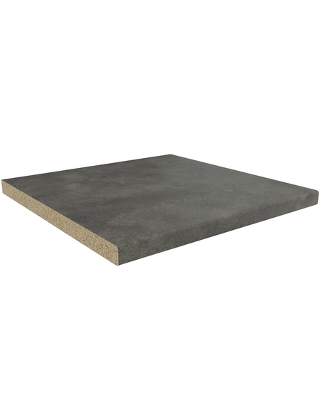 GetaElements Arbeitsplatte, fine ceramic grey, grau, Stärke: 39 mm
