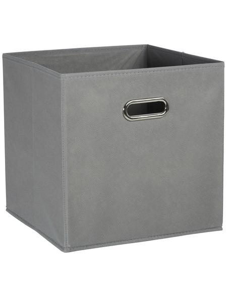ZELLER Aufbewahrungsbox, B x  L x H: 32 x 32  x 32 cm, Vlies/Metall