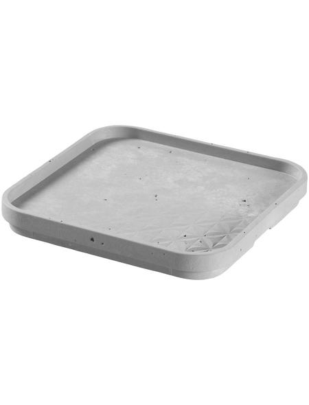 CURVER Aufbewahrungsbox »BETON«, BxHxL: 17 x 2 x 17 cm, Kunststoff